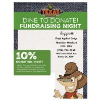 Dine to Donate at Texas Roadhouse