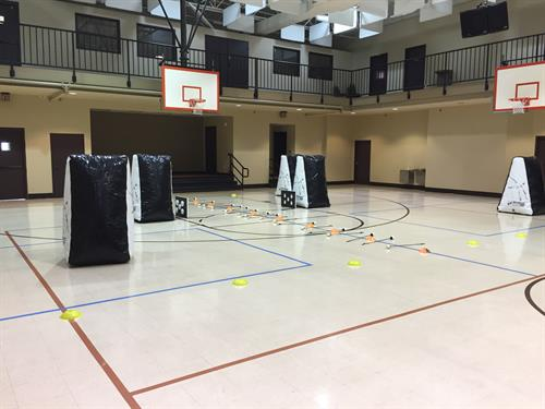 Archery tag set up