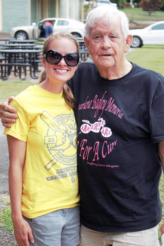 Sarah Husser and Buddy Bagley at annual motorcycle ride for Cancer Navigators