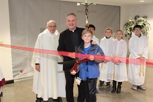 Ribbon Cutting Ceremony for St. Leo's New Parish Center