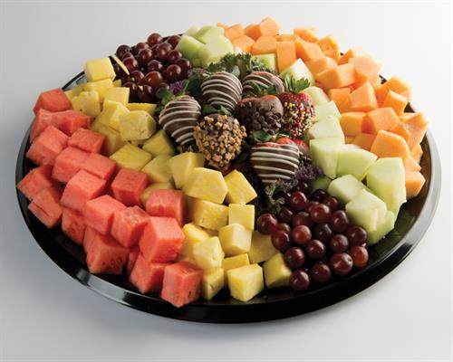 Fruit & Chocolate Covered Strawberry Platter- Treat for the Office