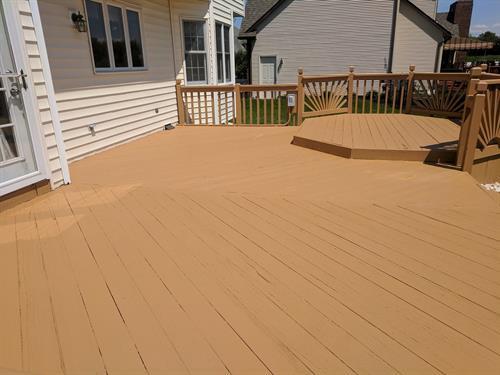 Deck Restoration: After