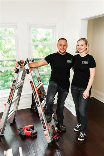 Jesse (handyman) & Anne Showers (business manager)