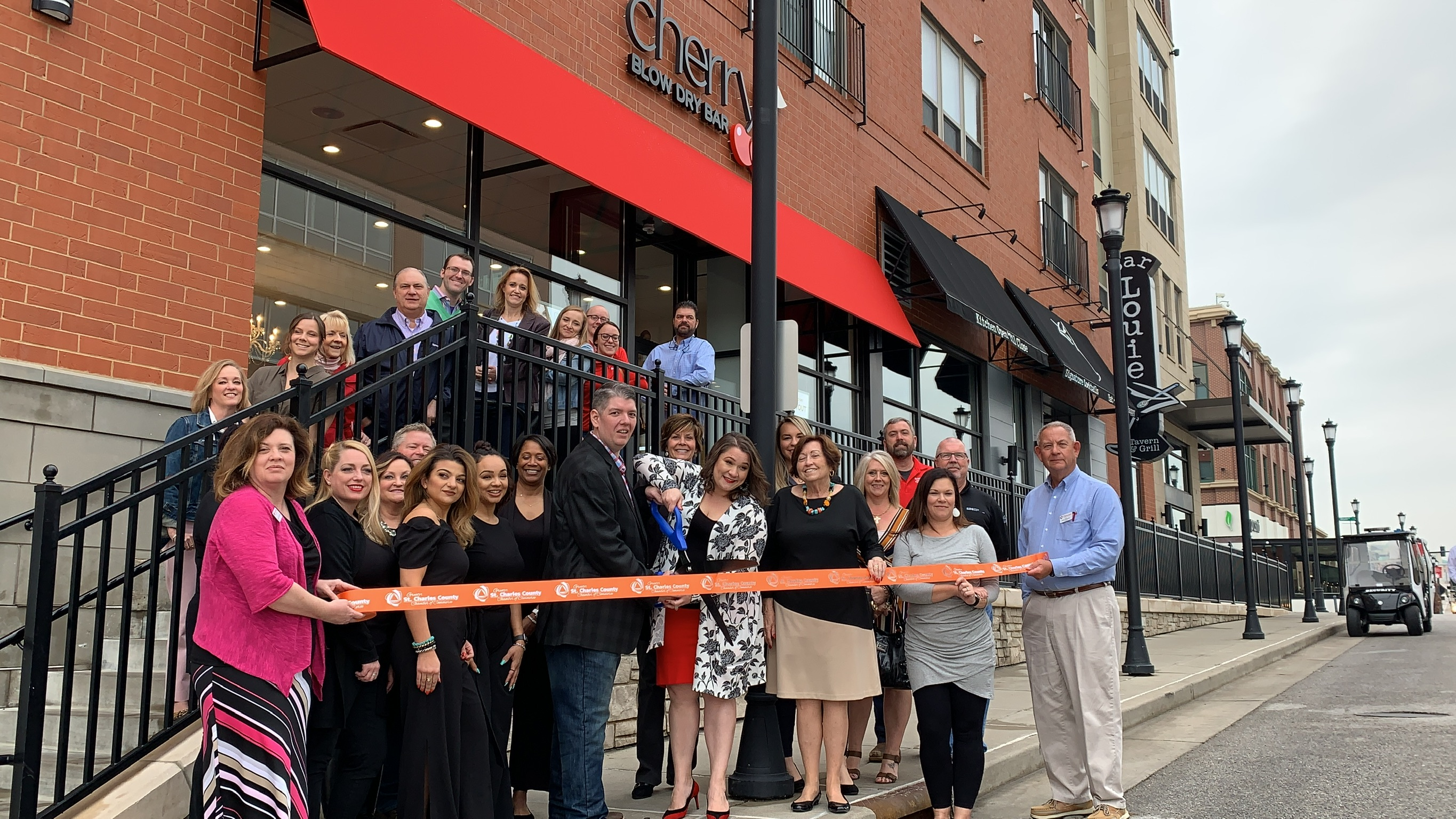 Image for Cherry Blow Dry Bar Celebrates  Grand Opening with Ribbon Cutting