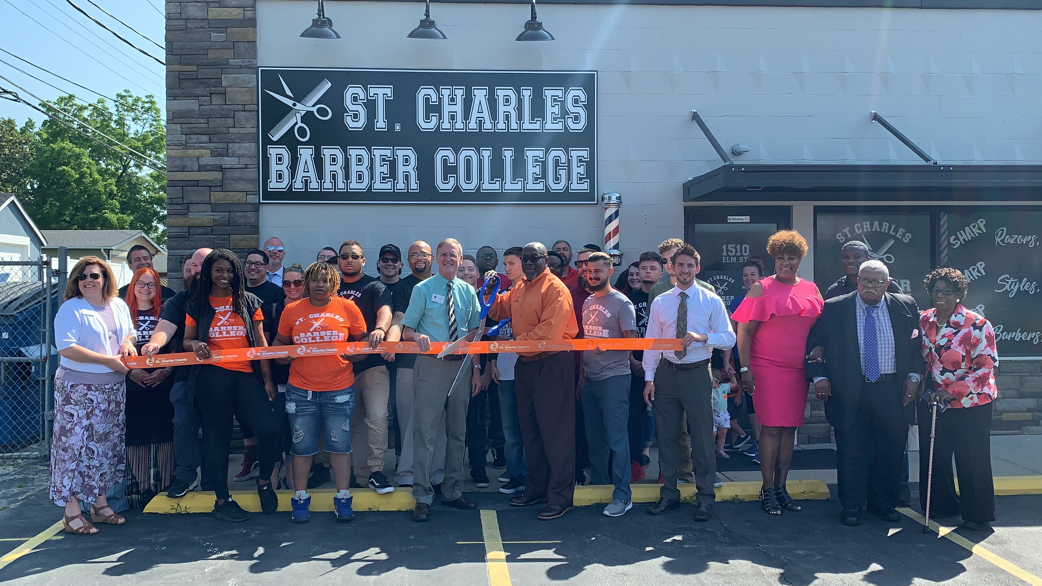 St. Charles Barber College Celebrates New Location with Ribbon Cutting