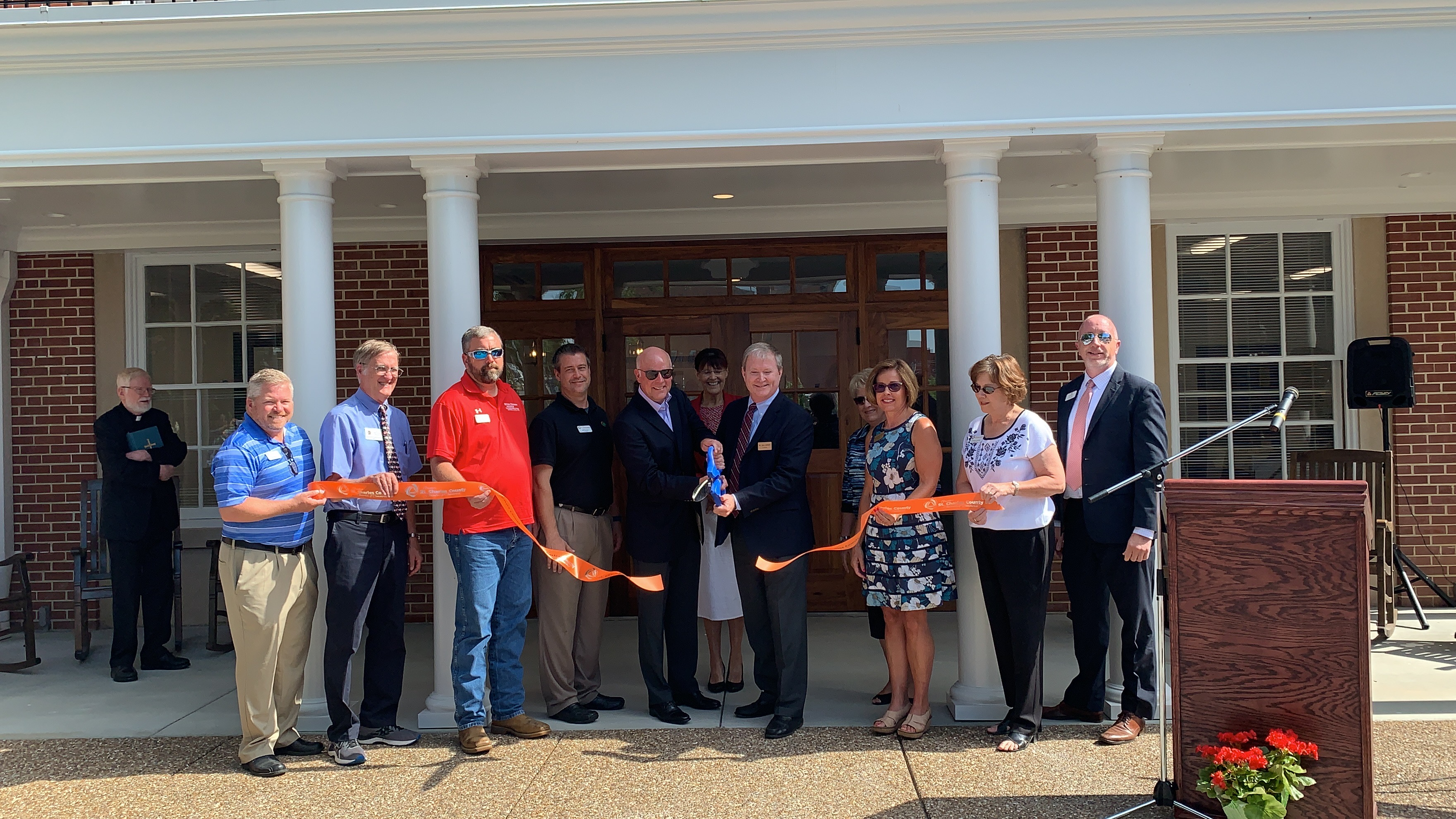 Academy of the Sacred Heart Celebrates New Entrance with Ribbon Cutting Dedication