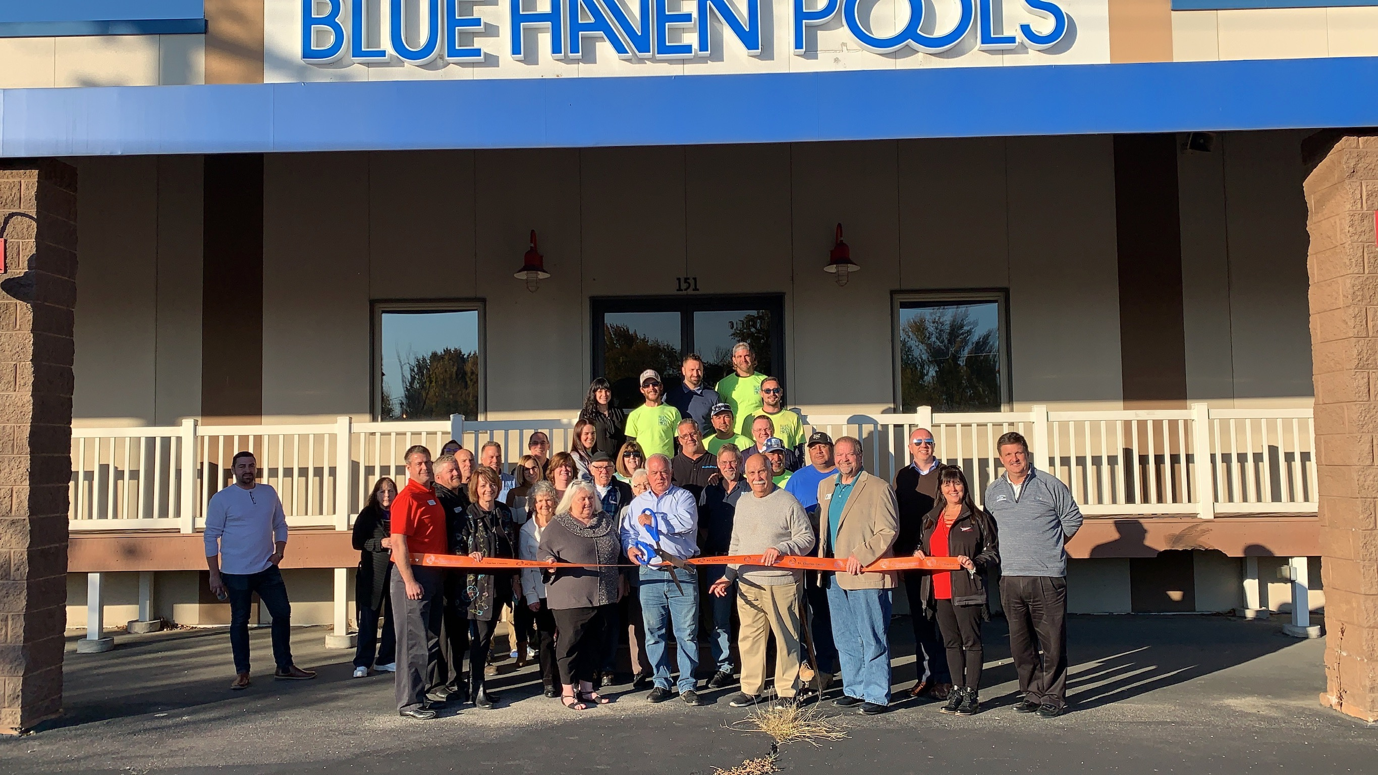 Blue Haven Pools Celebrates  Grand Re-Opening with Ribbon Cutting