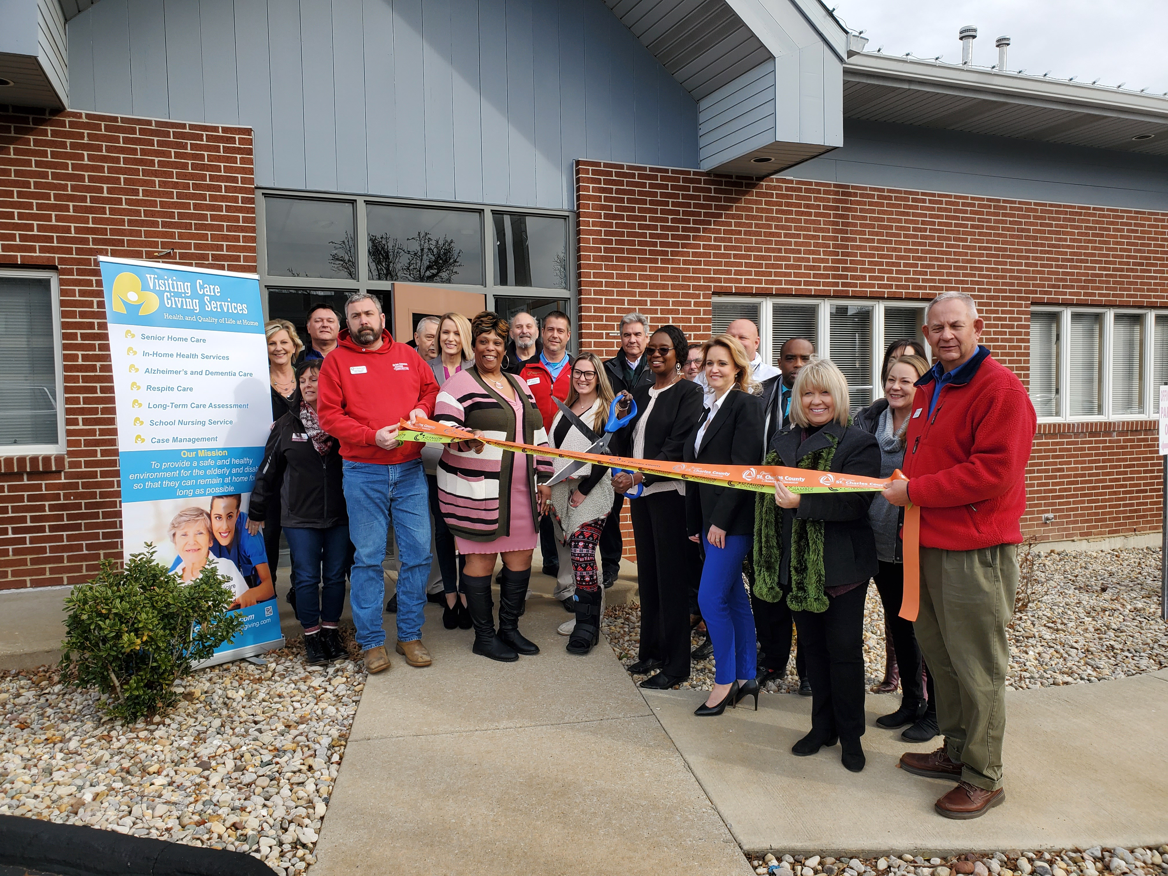 Visiting Care Giving Services Celebrates  Grand Opening with Ribbon Cutting
