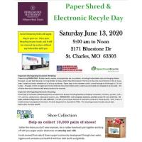 Paper Shred & Electronic Recycle and Shoes & Hope