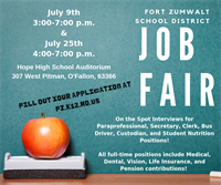 FZSD Job Fairs: July 9 & July 25