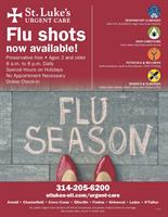 St. Luke's Urgent Care Flu Shots Now Available