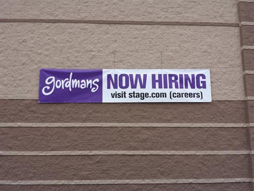 Gordmans 'Now Hiring' Banner
