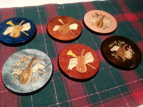 Inlaid Wood Coasters from Sorrento