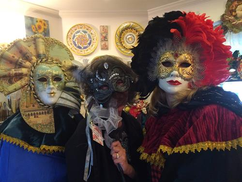 Masquerade Fun Masks made in Venice and USA by famous Italian Mask Makers