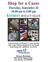 """SHOP FOR A CAUSE"" at Kismet Boutique, Los Gatos"