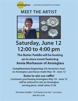 """""""MEET THE ARTIST"""" - Annie Morhauser of AnnieGlass at The Butter Paddle!"""
