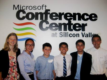 At Microsoft for the business plan competition
