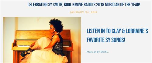 Celebrating Sy Smith, KOOL KMOVE Radio's 2018 Musician of the Year!