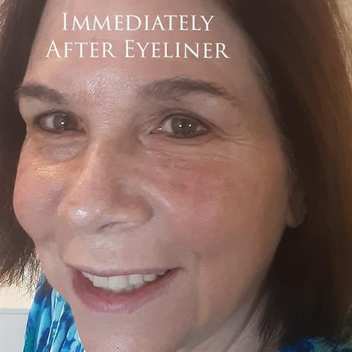 After eyeliner.