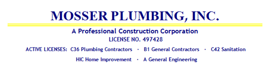 Mosser Plumbing & Heating, Inc.
