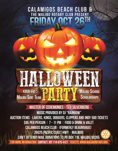 Halloween Events 2020 Near Me HALLOWEEN PARTY ROTARY FUNDRAISER   Oct 26, 2020   Malibu Chamber