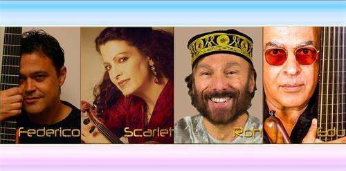 Original AC2P Ensemble.  Freddy Ramos, Scarlet Rivera, Ron Wagner & Eduardo Del SIgnore