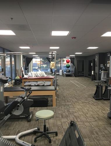Our gym and open treatment area