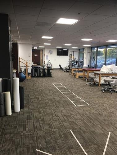 Another view of our gym and treatment area