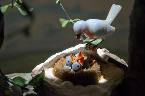 Bluebirds diorama