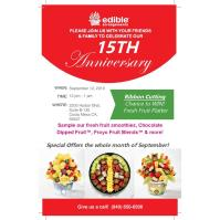 2019 Edible Arragements 15th Anniversary Celebration