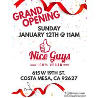 2020 Nice Guys 100% Vegan Grand Opening