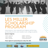 2020 Les Miller Student Scholarship Program