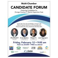 Multi-Chamber 2nd District Supervisor Special Election Candidate Forum