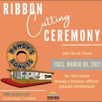 Randy's Donuts Costa Mesa Ribbon Cutting Celebration