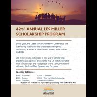 2021 Les Miller Student Scholarship Program Sponsorship & Donation