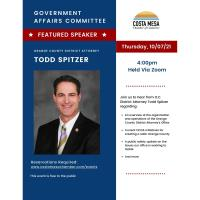 2021 Government Affairs Committee (October)  OC D.A. Todd Spitzer