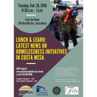 2019 Lunch & Learn: Latest News on Homelessness Initiatives in Costa Mesa