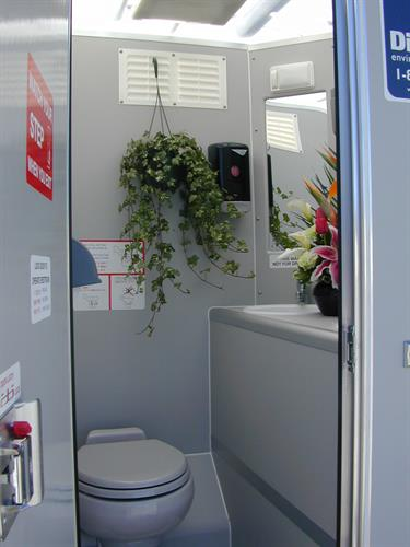 Inside the Solar Restroom - Ideal for weedings