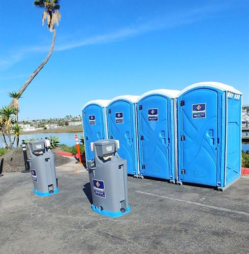 Standard Portable Restrooms & Hanswash Station
