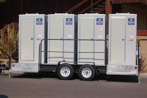 Quad Solar Restroom Trailer - ideal for weedings