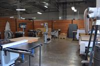 Laguna tools professional equipment in our well equipped wood shop including a large CNC router.