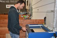 Use our laser etchers to cut and etch in wood, plastic, fabrics, glass and more.
