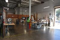 Professional wood shop from Laguna tools includes, table saw, router, shaper, planer, band saw, spindle sander, oscillating sander, miter saw, drill press, glue up areas and clamps, and our large CNC router.