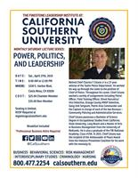 POWER, POLITICS, AND LEADERSHIP : MONTHLY SATURDAY LECTURE SERIES