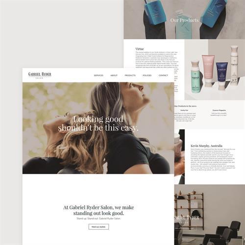 Gabriel Ryder Salon website design, development, and content strategy