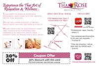 The Thai Rose Massage Spa - Costa Mesa