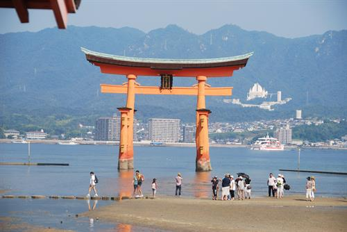 Famous Japanese scenery from Miyajima