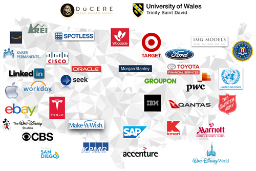 Ducere and UWTSD network of students and alumni are across the globe and the USA.