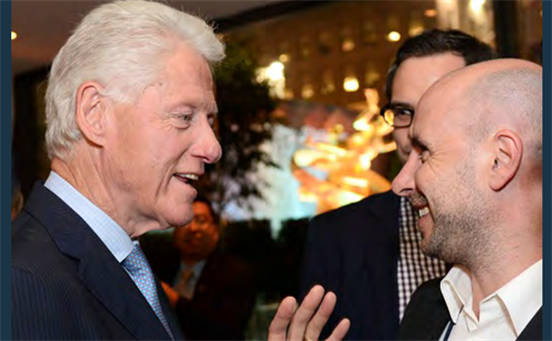 President Bill Clinton with Ducere Founder Mat Jacobson, Clinton Global Initiative partners with Ducere Foundation for the African Children's stories program.
