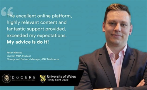 MBA student Peter's video is now on our youtube channel.
